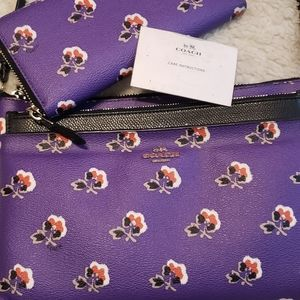Coach Floral Crossbody and Wallet